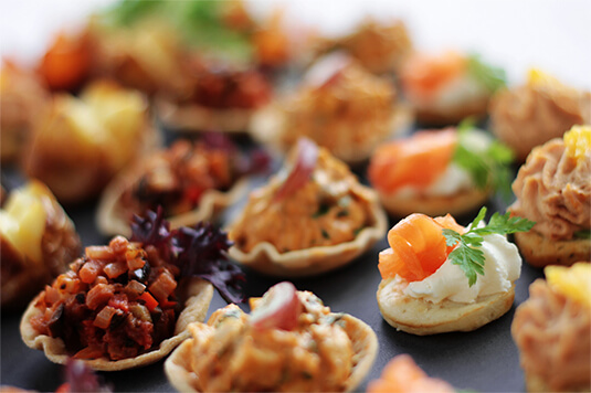 Sydney Harbour Boating Canapé selection